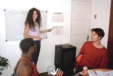Škola španělštiny Latin Immersion Argentina, studenti školy při výuce