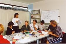 Škola angličtiny Lexis, Noosa, studenti školy při výuce