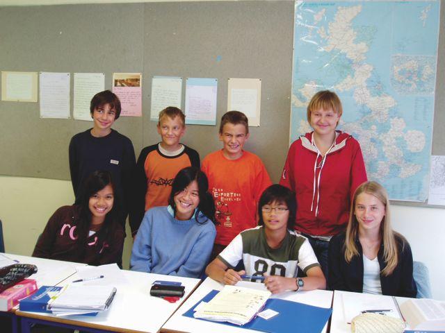 Studenti školy v Sidmouthu