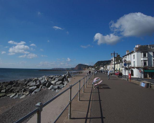 Pobřeží v Sidmouthu
