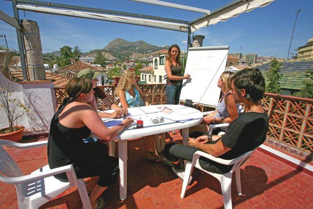 Výuka ve škole Sprachcaffe Barcelona