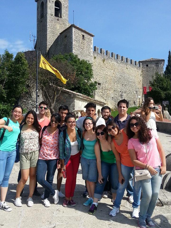 Studenti na výletě v San Marinu