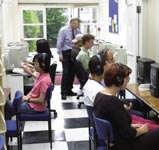 Škola angličtiny St Giles Londýn Highgate, počítačová místnost